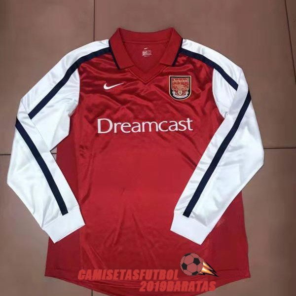 arsenal 2000 camiseta retro manga larga primera