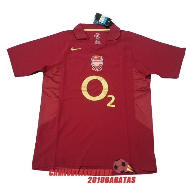 arsenal 2005 2006 camiseta retro primera