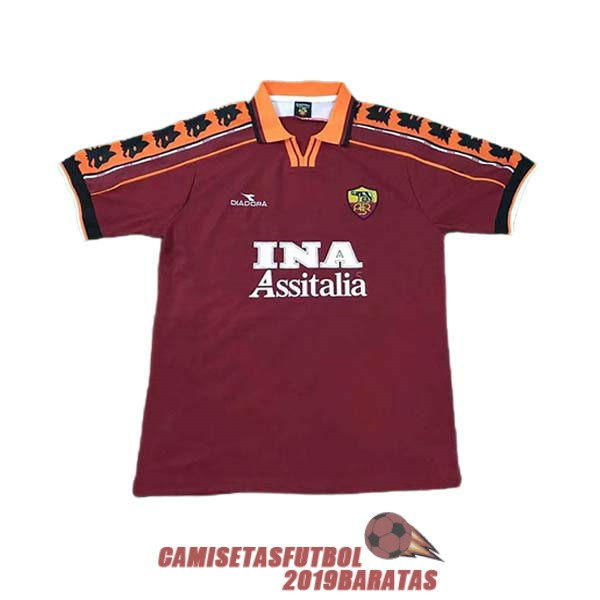 as roma 1998 1999 camiseta retro primera