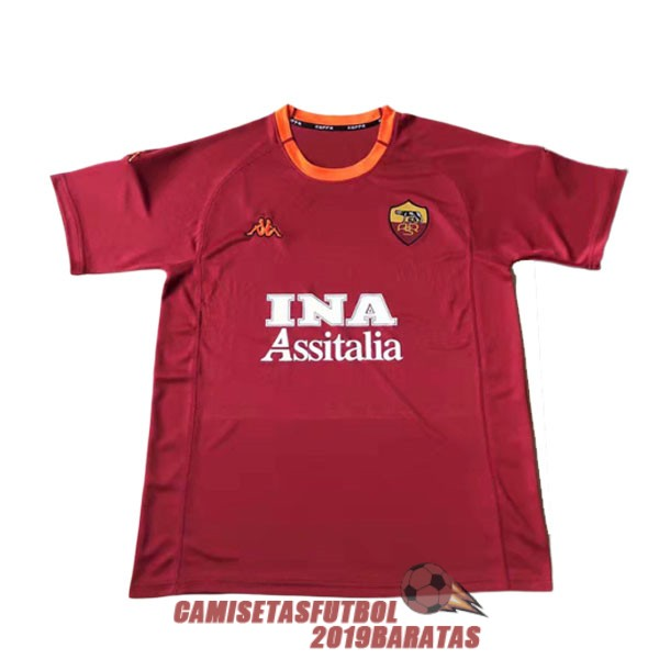 as roma 2000 2001 camiseta retro primera