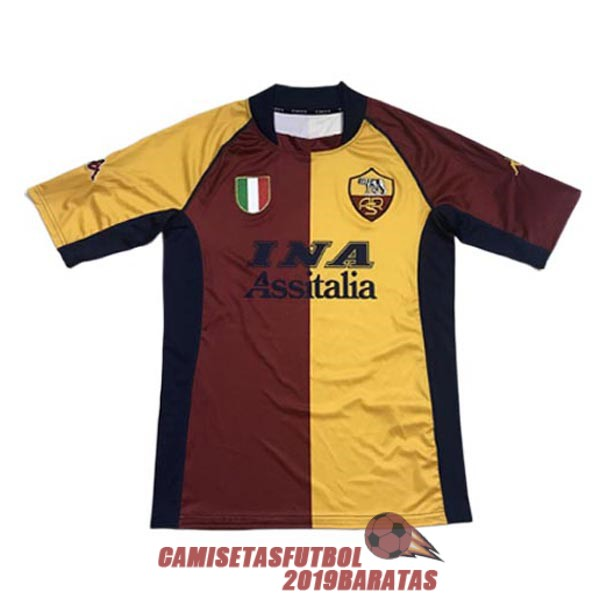 as roma 2001 2002 camiseta retro primera