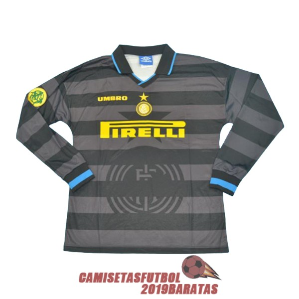inter milan 1997 1998 camiseta manga larga retro segunda