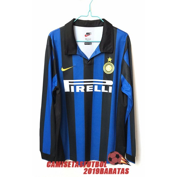 inter milan 1998 camiseta manga larga retro primera