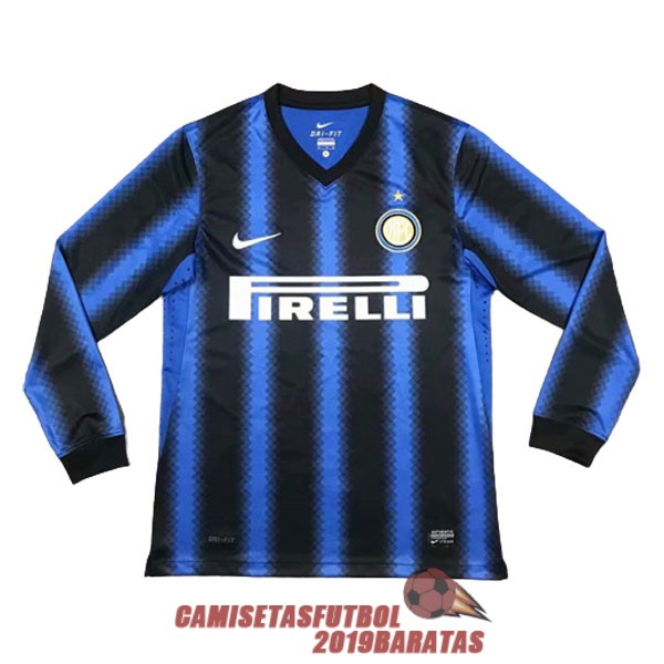 inter milan 2010 2011 camiseta manga larga retro primera