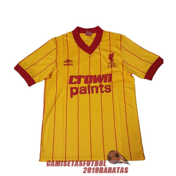 liverpool 1981 1984 camiseta champions league retro amarillo