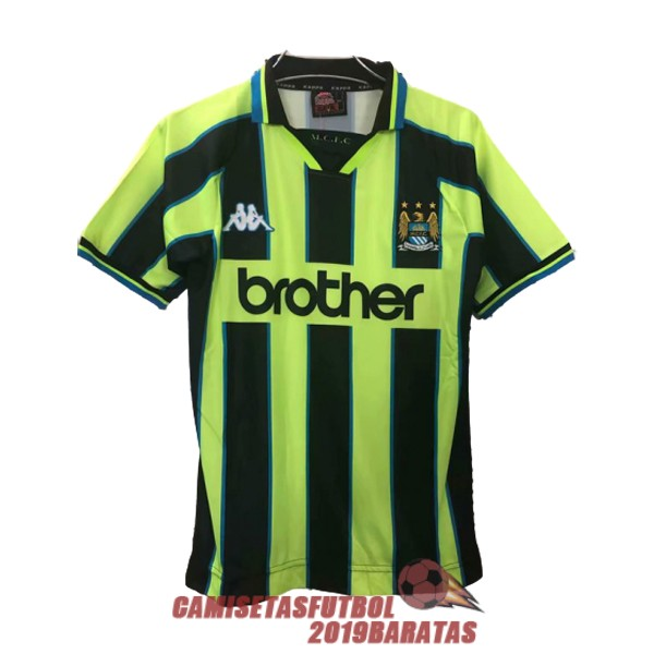 manchester city 1998 1999 camiseta retro tercera