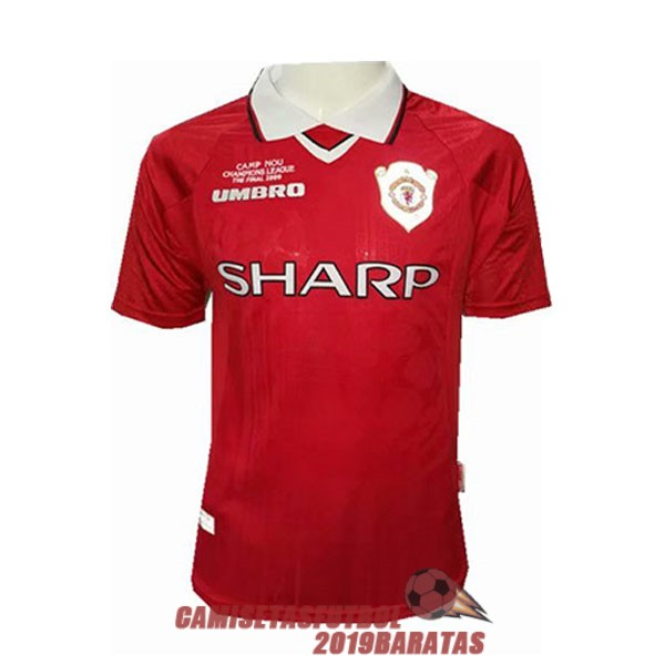 manchester united 1999 2000 champions league rojo camiseta retro