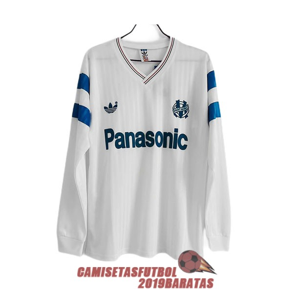 marsella 1990 1991 camiseta manga larga retro primera