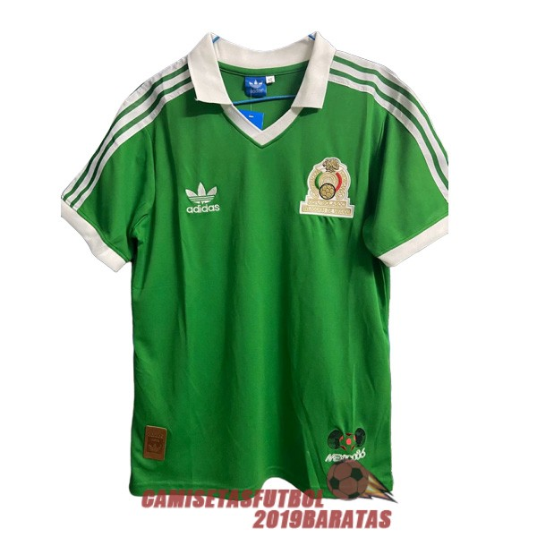 mexico 1986 camiseta retro primera
