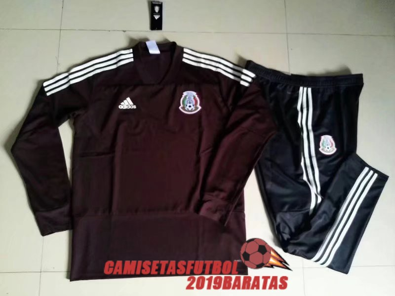mexico 2018 chandal cuello v marron
