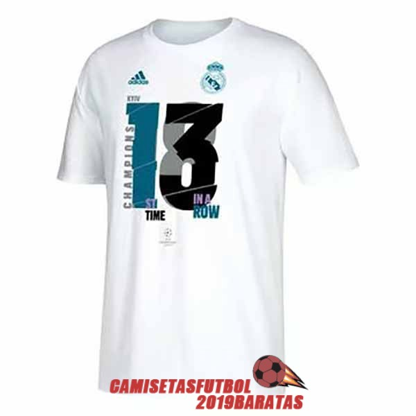 real madrid 13 champions league camiseta blanco
