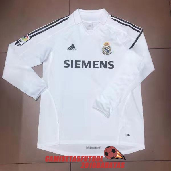 real madrid 2006 camiseta retro manga larga primera