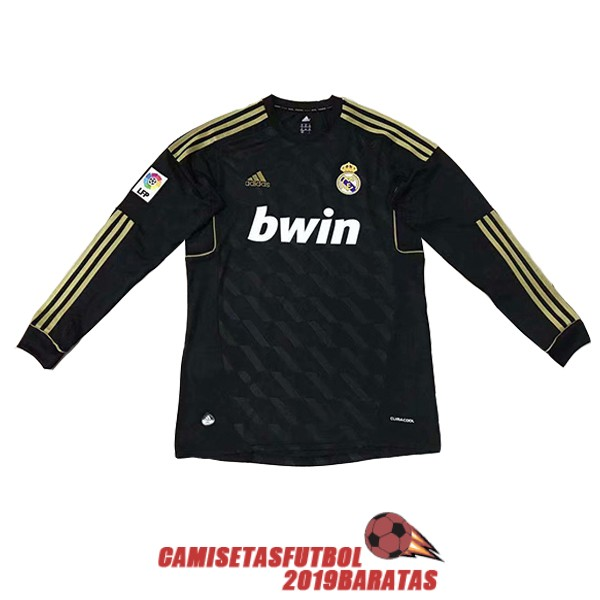 real madrid 2012 camiseta retro manga larga segunda
