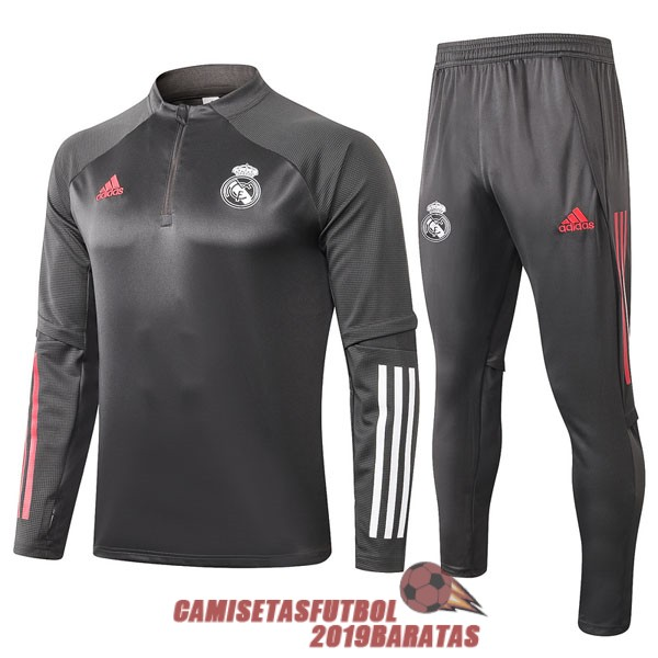 real madrid 2020 2021 cremallera chandal gris oscuro